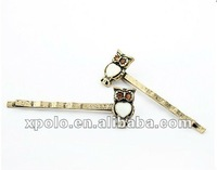 Korean Fashion Retro Metal Owl Shape Hair Pins Jewelry