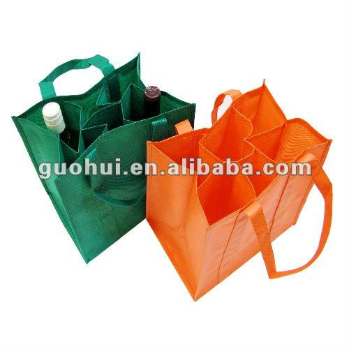 High quality Non-woven six bottle wine bag