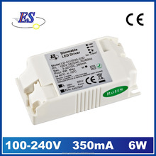 6W 27V 350mA Constant Current LED driver with 1-10V dimming (CE RoHS),1-10V dimmable led driver with 3 years warranty