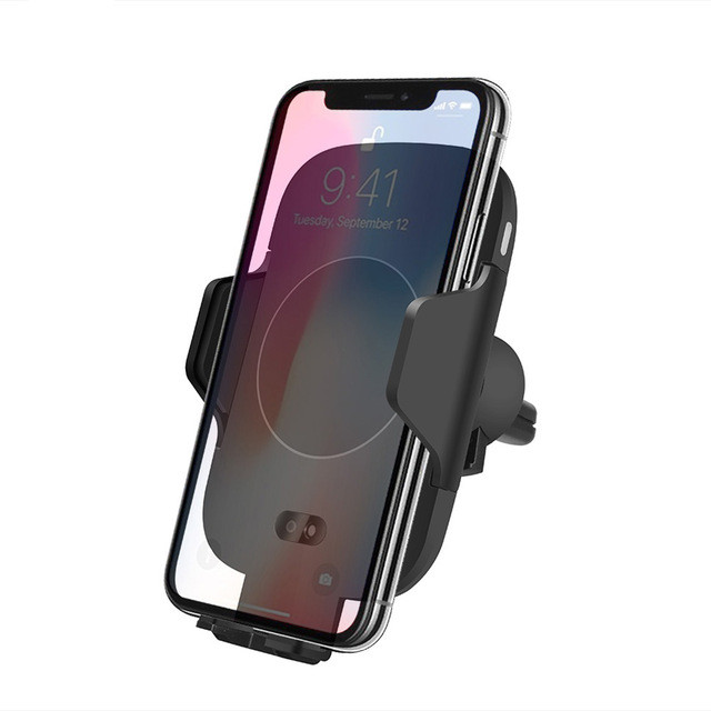 Newest 10W Automatic Infrared sensor Wireless Car Charger for iphone X C9 <strong>C10</strong>