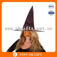 Non-woven Gauze Halloween witch hat, wholesale witch hat