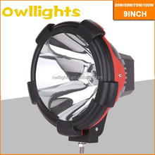 off road 4x4 hid spot light,xenon work light 12v 24v,100w hid driving light for Jeep Tractor Truck