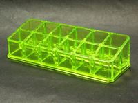 Clear Green Acrylic Makeup Organizer Case for Lipstick