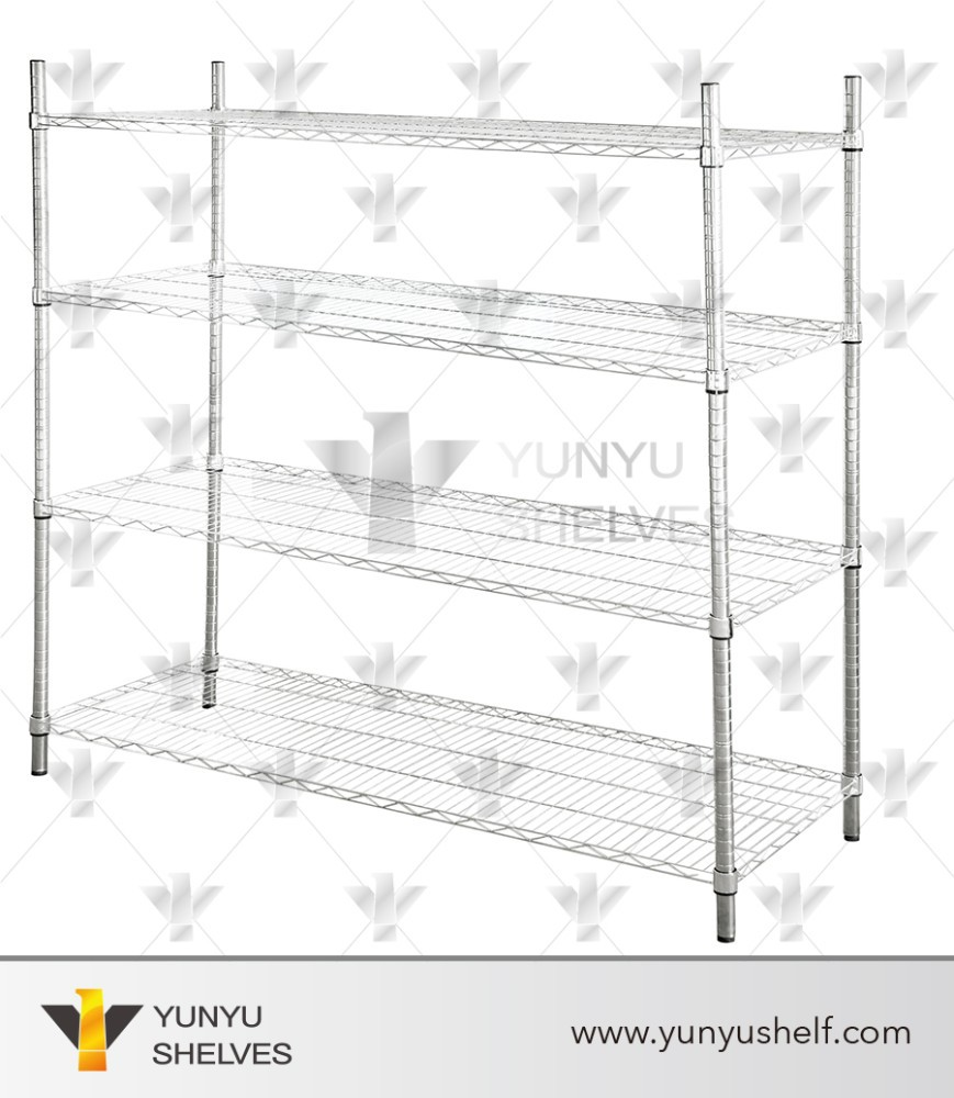 Folding wire metal fruit and vegetable display stand