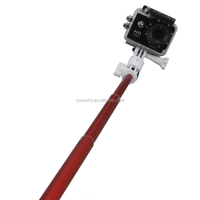 2015 aluminum high quality wireless monopod bluetooth selfie stick for nokia lumia 1020 for iphone go pro sj4000