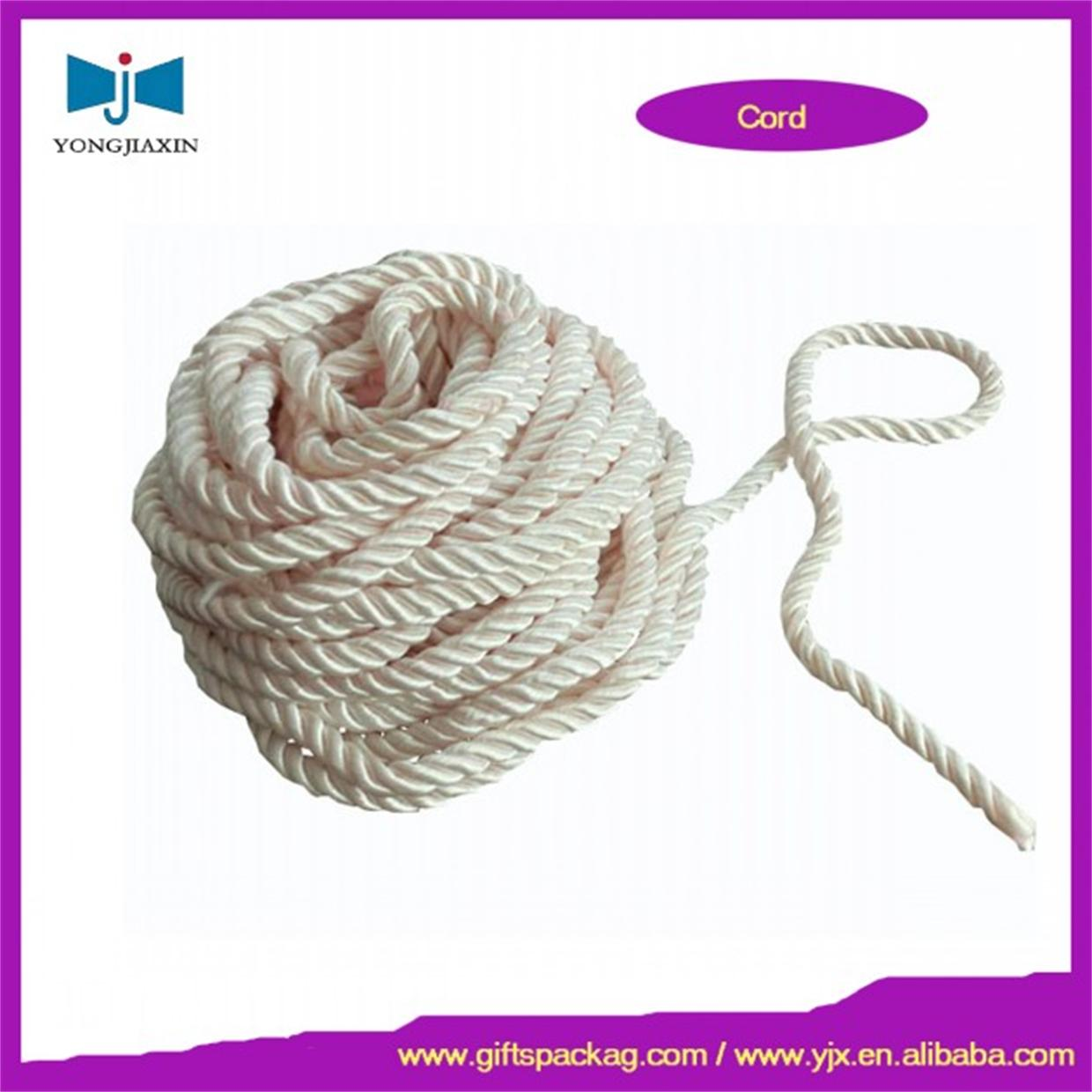 Packing rope 1mm-8mm 100% cotton waxed cotton cord