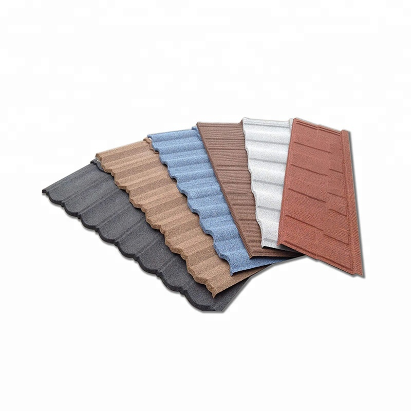 Colorful Stone Coated Steel Asphalt Shingle Classic Roof Tile