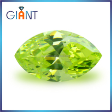 Cubic zirconia with cz stones for jewelry making korean cubic zirconia gemstones in loose gemstone D- apple green