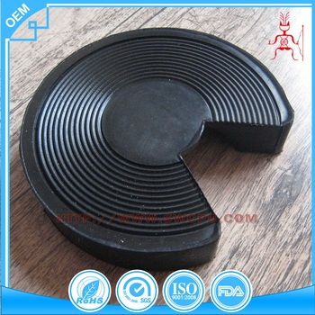Heavy duty rubber car lift pad