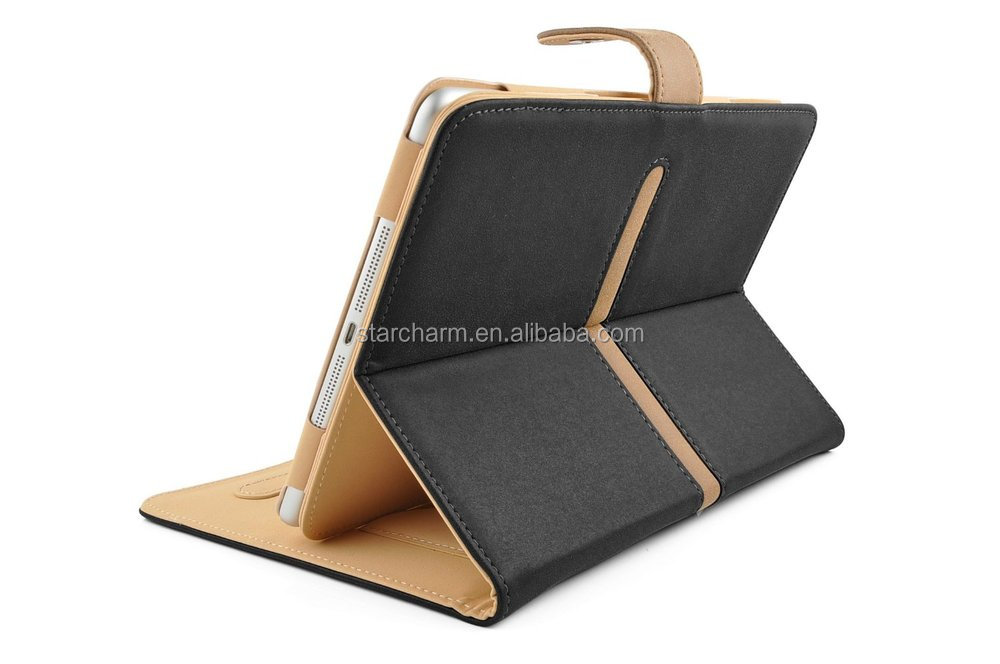 New fashion 360 degree rotating pu leather case stand holder smart book cover case for apple ipad mini 1/2/3
