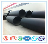 hdpe corrugated drainage pipe large diameter