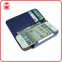 Hot PU Leather Pouch Mobile Phone Wallet Case for iphone5