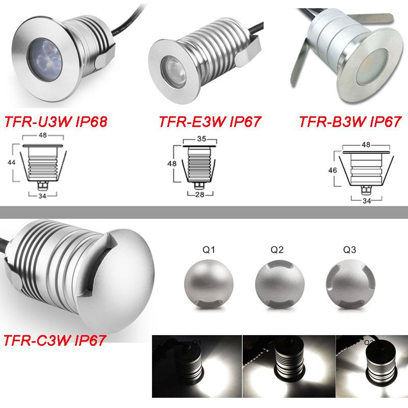 3W IP67 IP68 LED Spotlight