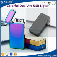 Dual Arc USB Electronic Rechargeable Flameless Cigarette Lighter