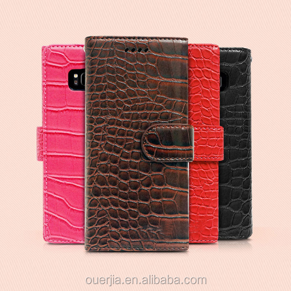 crocodile leather case for galaxy note 8, for galaxy note 8 hotsell leather flip case