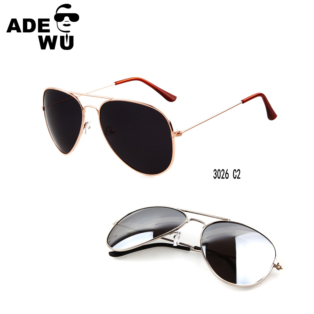 ADE WU 2016 women men retro vintage metal polit sunglasses R brand design eyewear shades