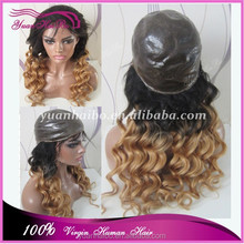 Alibaba wholesale Grade 7A full thin skin PU injected wig cap ombre color thin skin full lace wigs