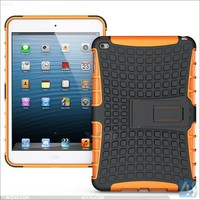 China wholesale! Silicon+PC armor shockproof kickstand case for ipad mini 4
