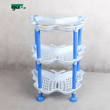plastic 3 layers butterfly storage rack small shelf