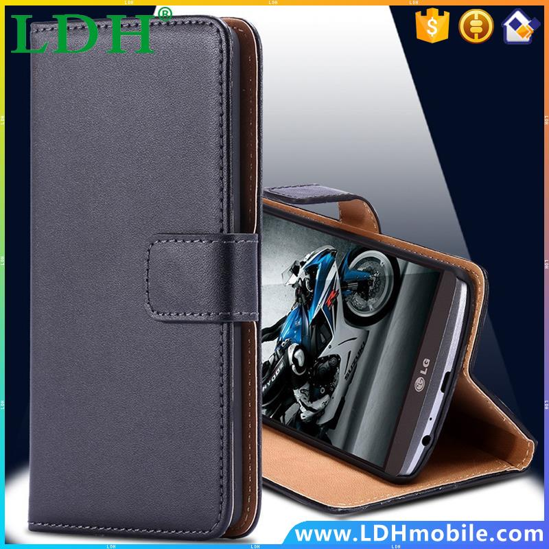 For LG G2 Case Classic Luxury Retro Real Genuine Leather Wallet Cell Phone Case For LG G2 Optimus D801 D802 LS980 With Card Slot