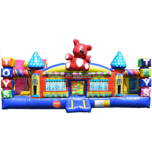 Toy town inflatable bounce house for sale / inflatable trampoline rental from china / inflatable bouncers combo for kids n adult