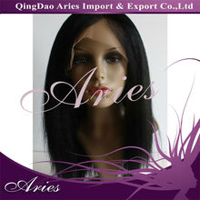 100% Malaysian hair silk straight lace front wig in stock,accept paypal