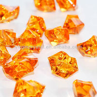 Orange Acrylic Craft Stones Wedding Table Scatter Confetti