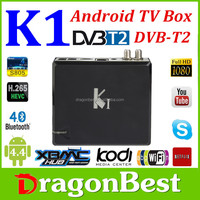 K1 DVB S2 Android TV Box+DVB-S2 Sat TV Receiver K1 S2 DVB S2 Amlogic S805 Quad Core 1GB/8GB Wifi