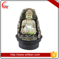 Polyresin buddha water fountain made in China.