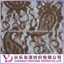 The best-selling products in Italy Nylon elastic embroided lace fabric for selling