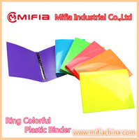 office school plastic filing stationery Customized Logo OEM color PP a4 document folder 3 Ring Binder