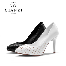 5372 Special decoration personalized pump style shoes ladies womens black pumps