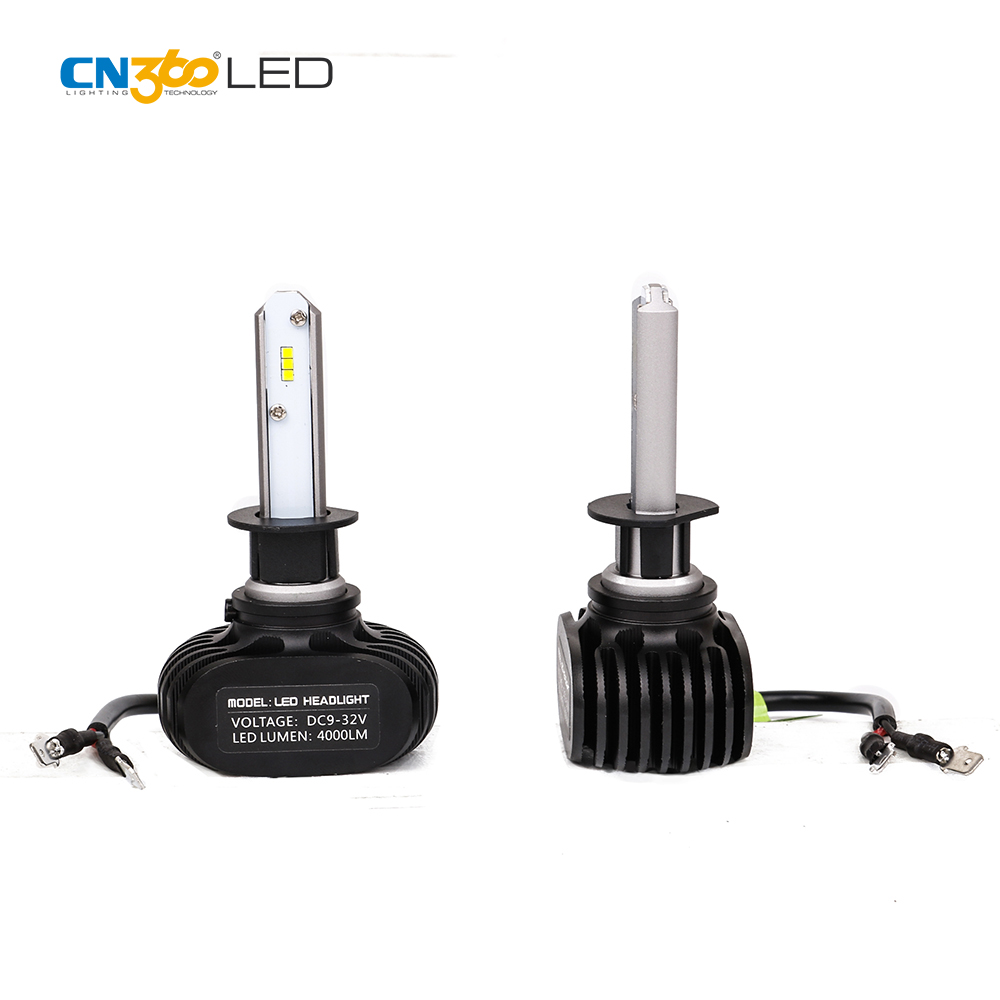 N1 S1 high power 20W 4000lm car lamp led h4 H1 H3 H7 9005 9006 LED headlight
