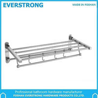 Everstrong bathroom foldable towel rack ST-V1560 SS304 towel shelf with hooks