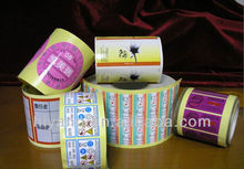 Self-adhesive cosmetic mineral round labels/stickers