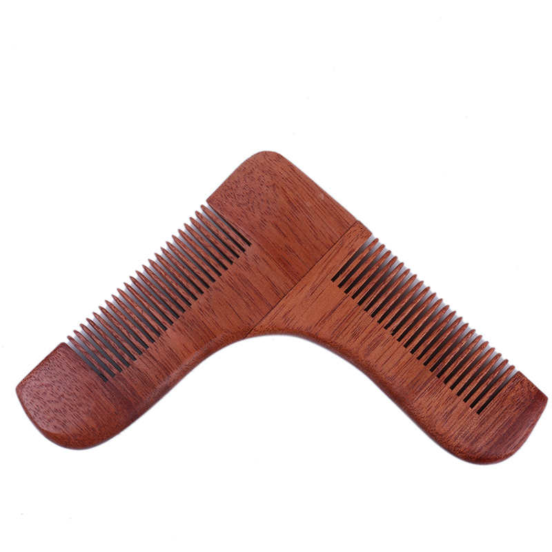 beard shaping trimming tool ,h0tww beard brush and comb set