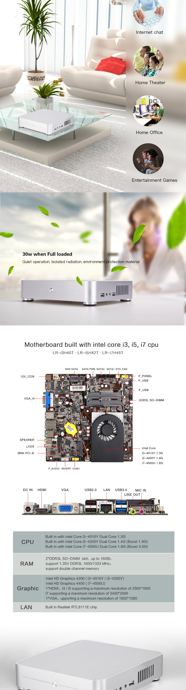 Gaming PC With High-end design Assembly Desktop Computer Used For Internet Cafe PC