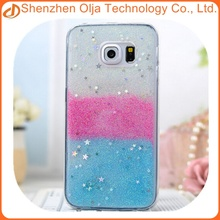 Hot style glitter star colorful mobile phone case for samsung galaxy note5