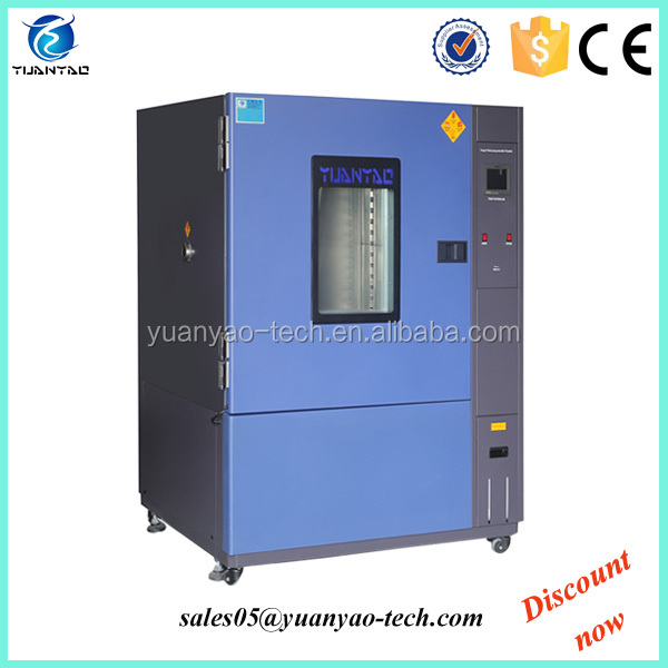 Alternating humidity and temperature cycling test cabinet for solar module