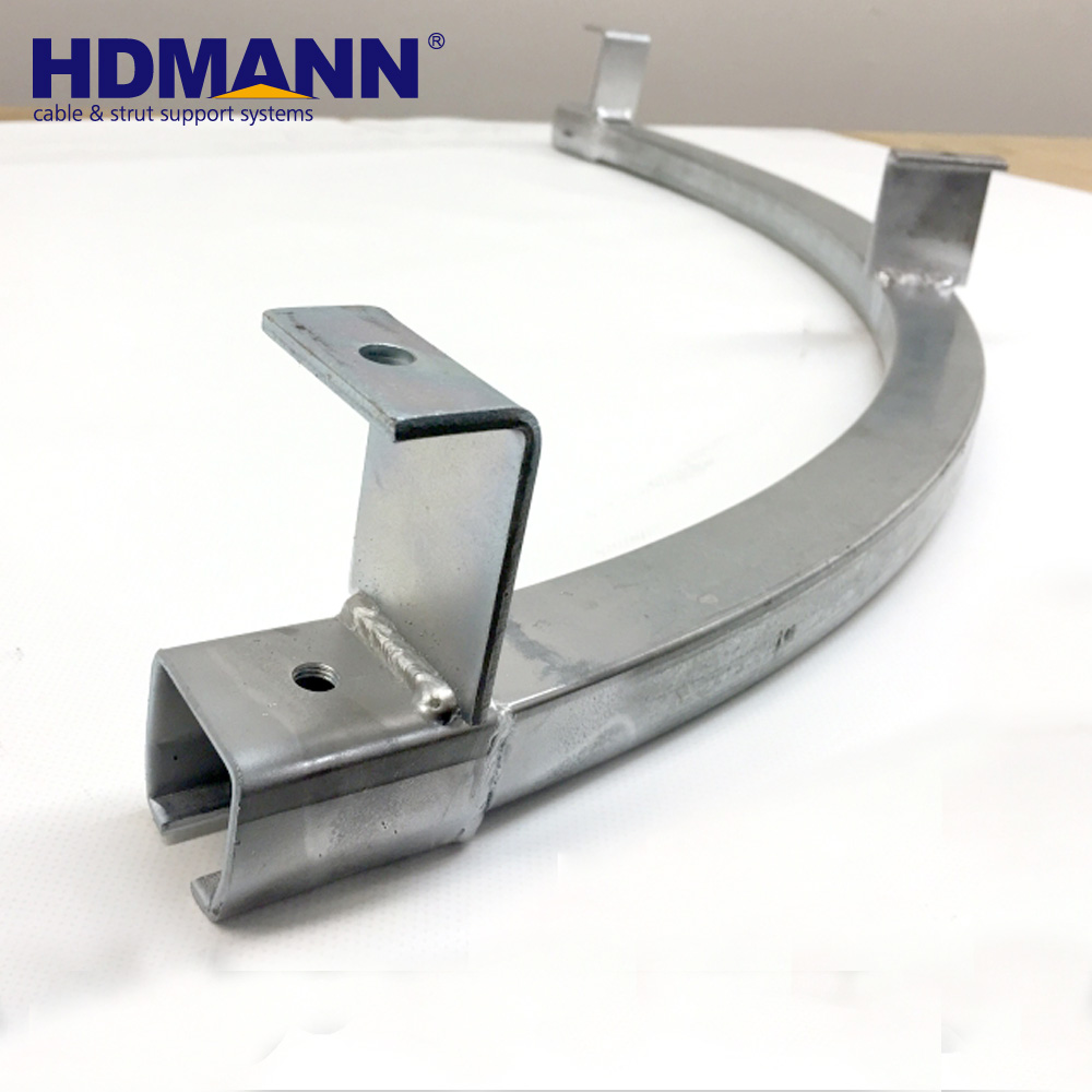 Newest Design 41X41 C Type Hot Dipped Galvanized Curved Unistrut Channel Support OEM