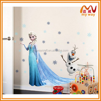 elsa cartoon self adhesive wall decoration stickers for kids room