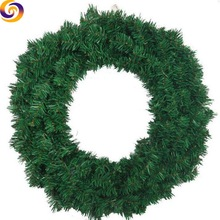 Wholesale Xmas party Decoration christmas green wreath garland