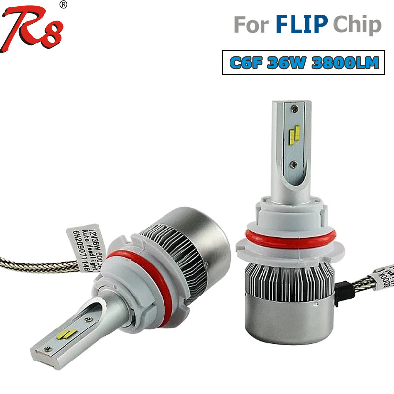 Auto lights led 9004/9007 smd led headlight bulb review C6F 36W 3800LM PHILIPse high lumens headlight