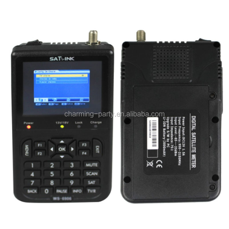 High quality DVB-S2 digital <strong>satellite</strong> finder meter ws 6906 satlink ws6906