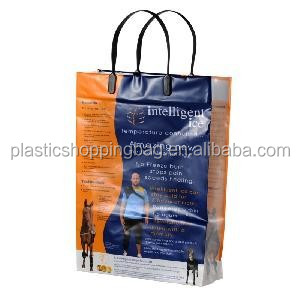 Custom OEM Loop Handle Plastic Bag