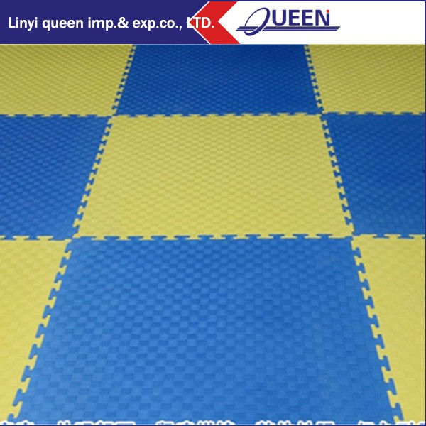 "Reusable yellow belt Taekwondo break boards, TKD training boards &7/8"" Martial Arts Foam Tile Gym Flooring Mats 2'x2' Tiles"