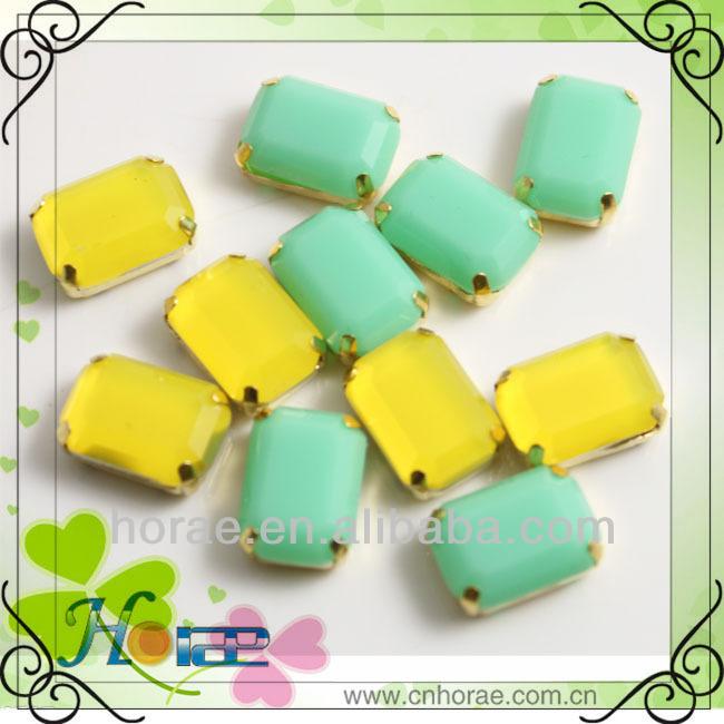 10*14mm прямоугольник оптовой шарики смолы с золотистым цветом коготь для украшения платья/обуви decorarion/мешок украшения