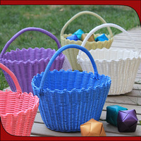 100% handmade woven cheap wholesale easter straw basket