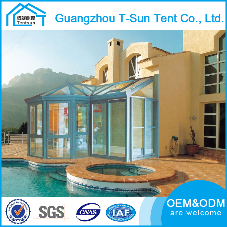 Beautiful Design New Technology Aluminum Winter Garden Glass House Sunroom