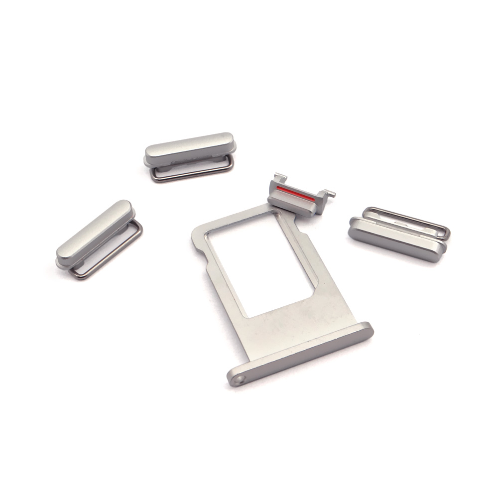 For iphone 5 side power volume mute button set spare parts 5 in 1 button set